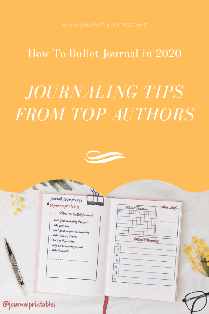 how to bullet journal, How To Bullet Journal in 2020 - Top Authors Share Journaling Tips