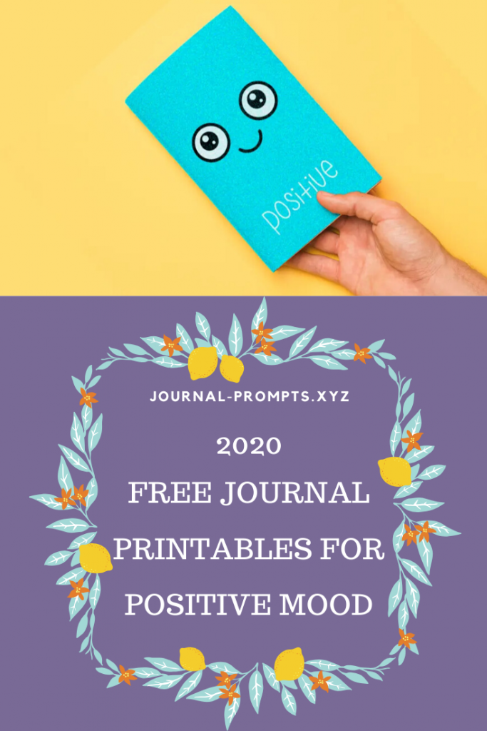 free bullet journal printable for positive mood